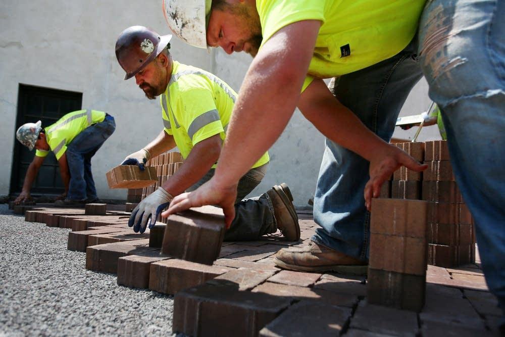 Laying paver stones