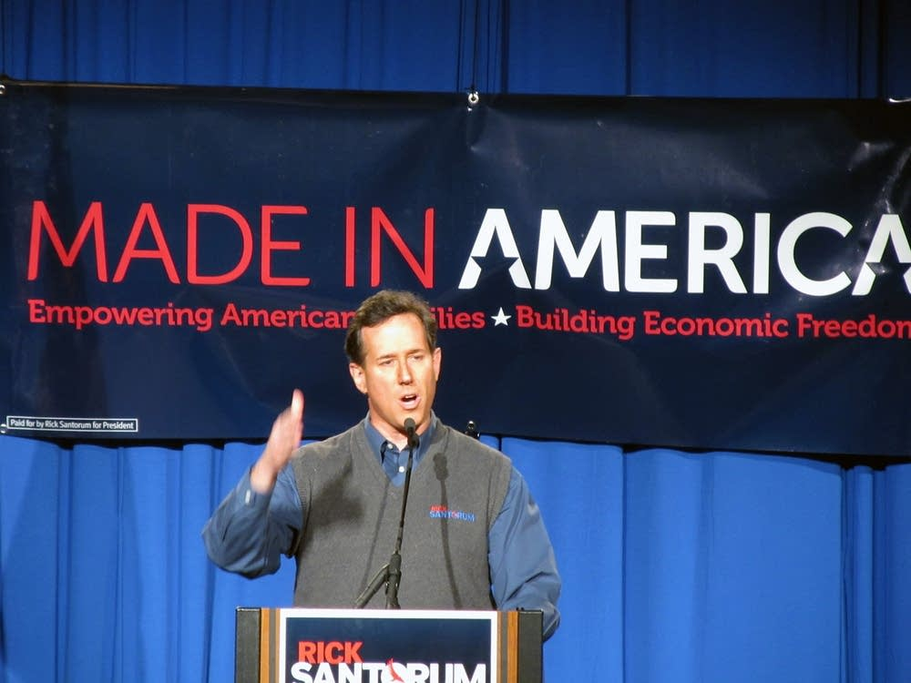 Rick Santorum in Fargo, N.D.