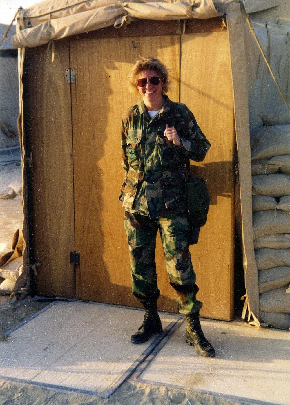 Military veteran Chante Wolf