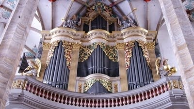 1714 Silbermann/Cathedral, Freiberg, Germany