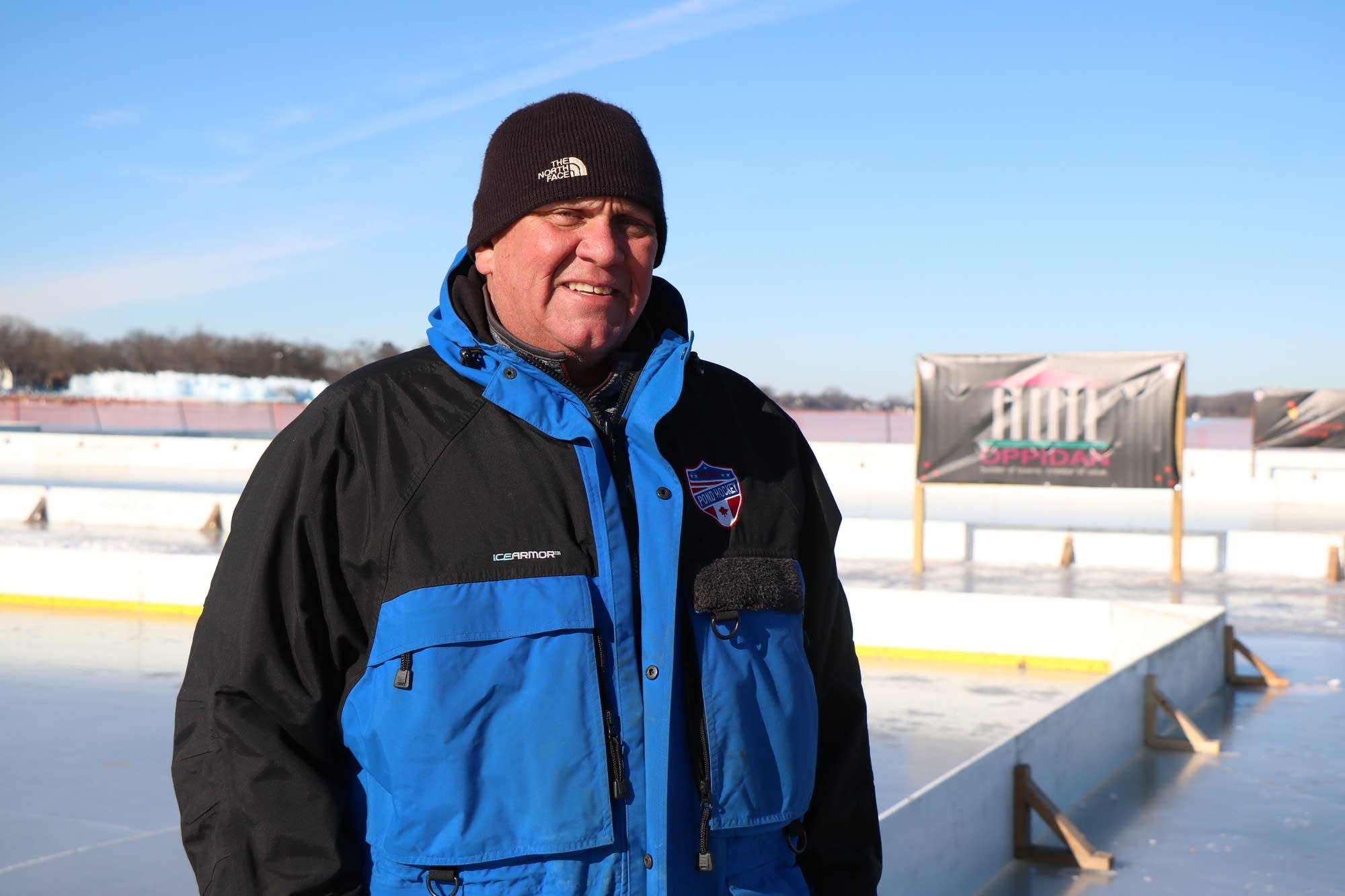 Tim Jenzer, ice director for the North American Pond Hockey Championship