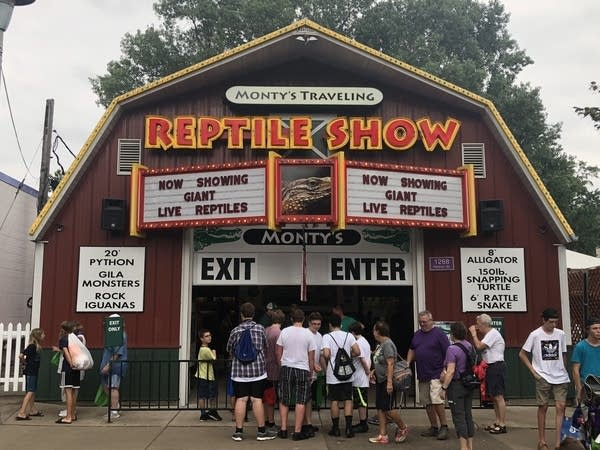 The building that houses Monty's Traveling Reptile Show.