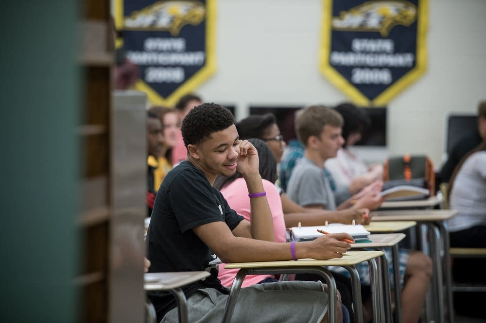 Students in class at Bloomington Kennedy High Scho