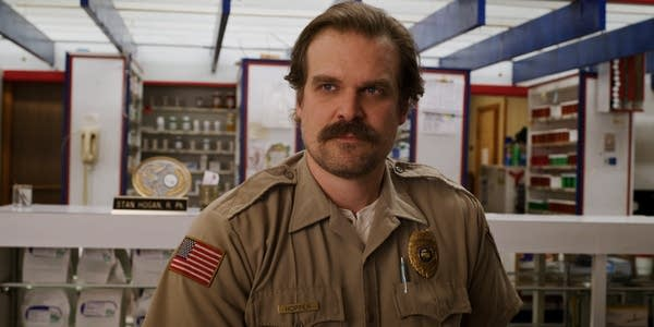David Harbour plays Jim Hopper in the Netflix series, Stranger Things.