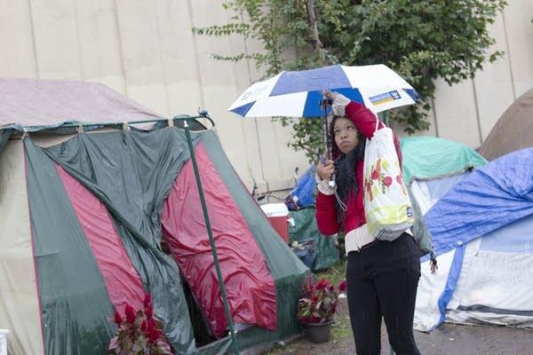 Kariece Wilson, who has been homeless since 2015.