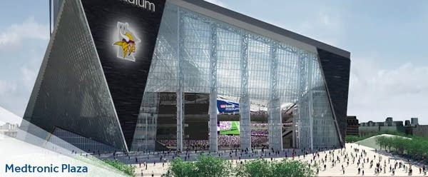 A rendering of Medtronic Plaza at the stadium