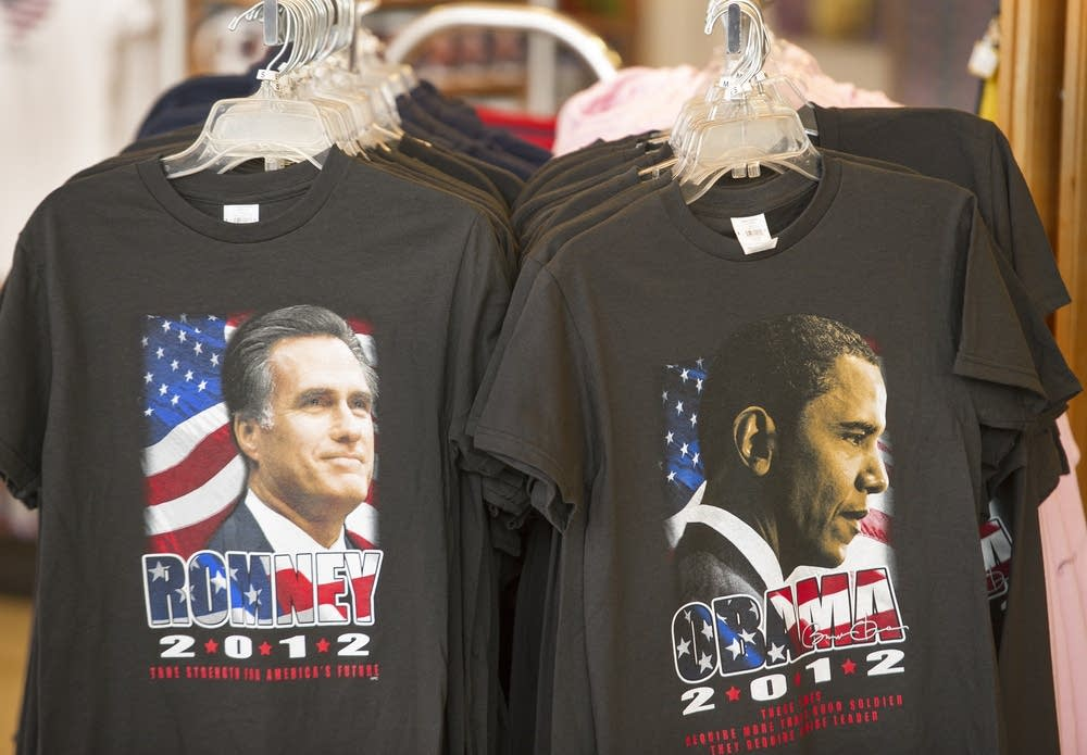 Romney and Obama T-shirts