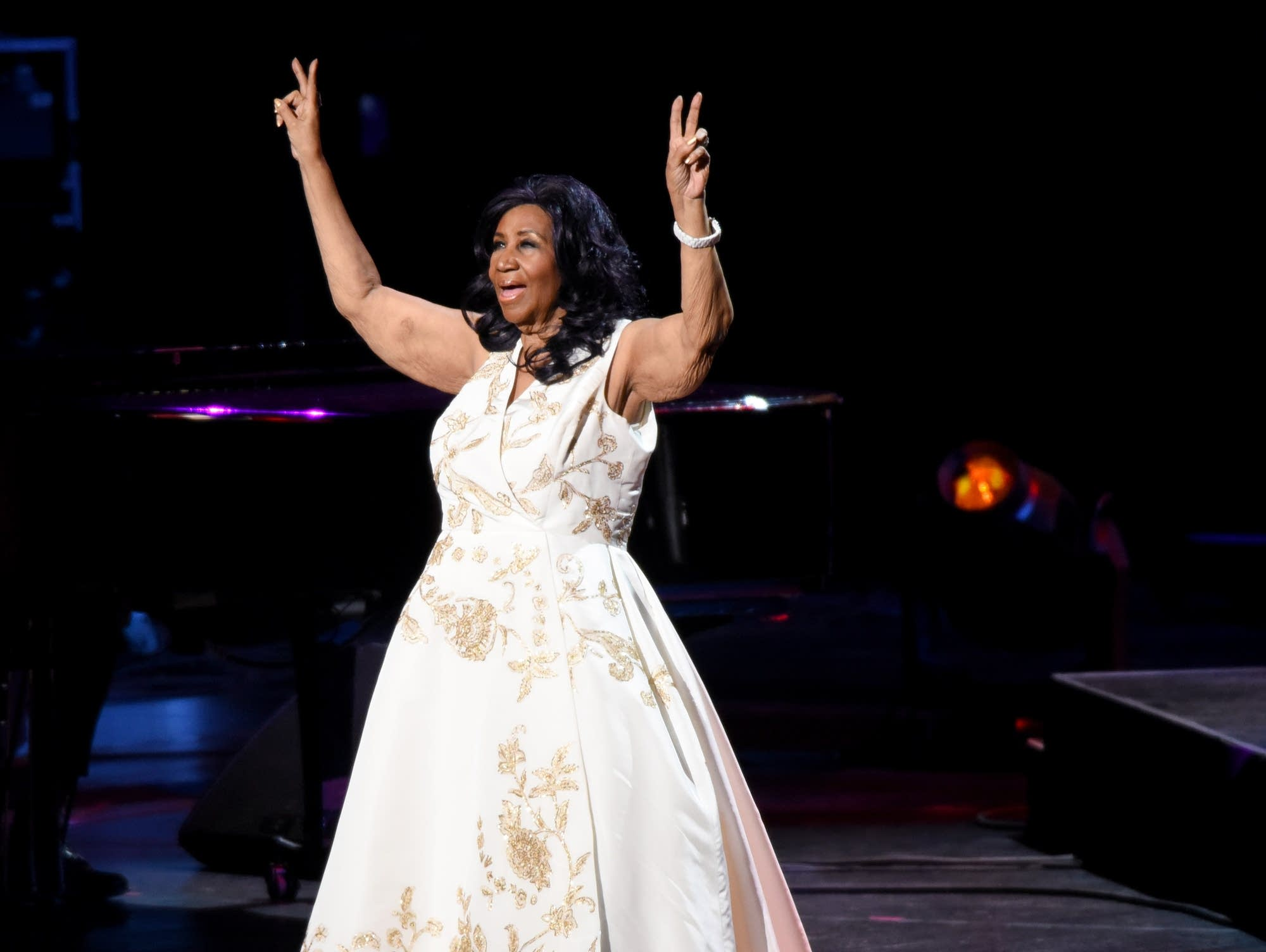 Aretha Franklin performs at Radio City Music Hall in 2017.