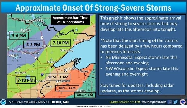 Thunderstorm timing