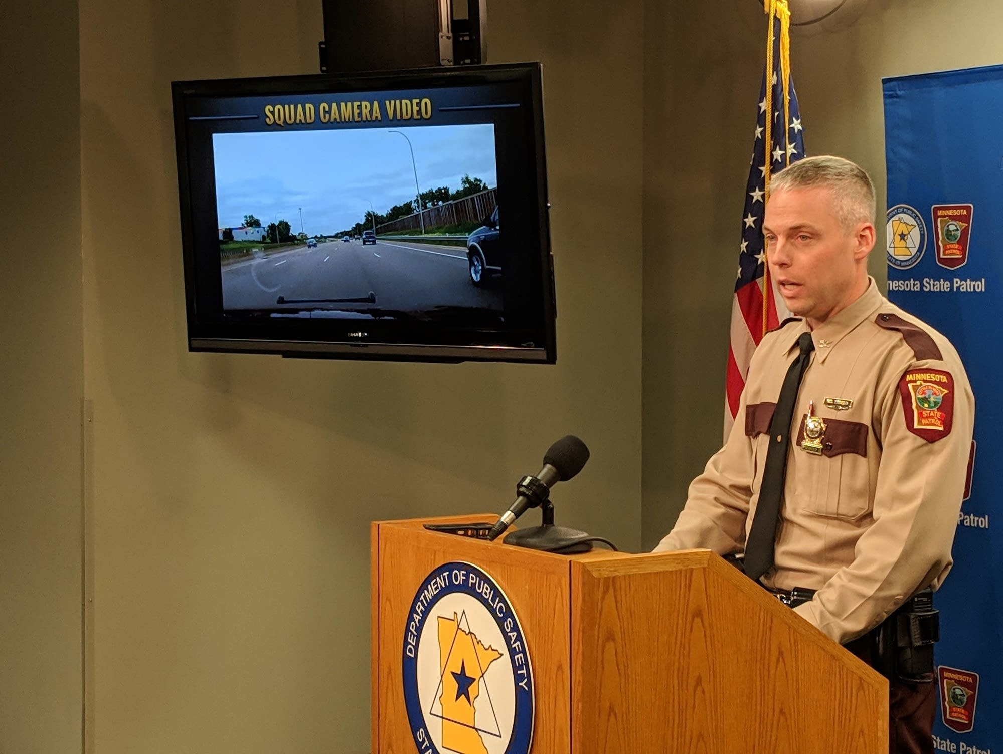 State Patrol chief Col. Matt Langer speaks about the June car chase.