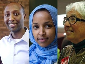 Mohamud Noor, Ilhan Omar and Phyllis Kahn