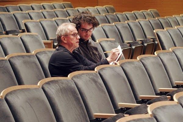 Osmo Vanska, left, and Anthony Vine