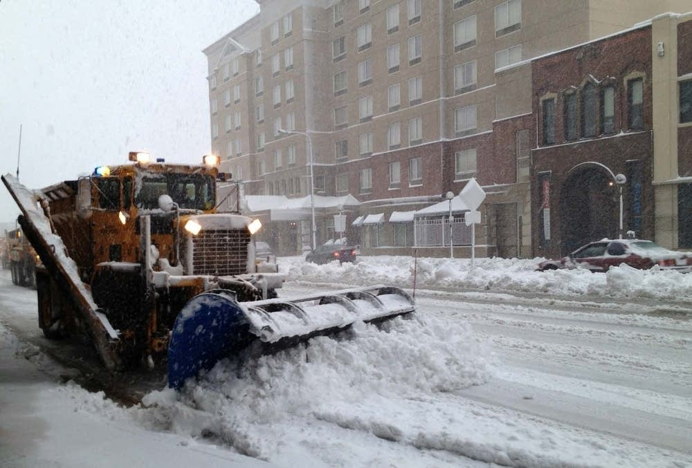 Snow plows in Rochester