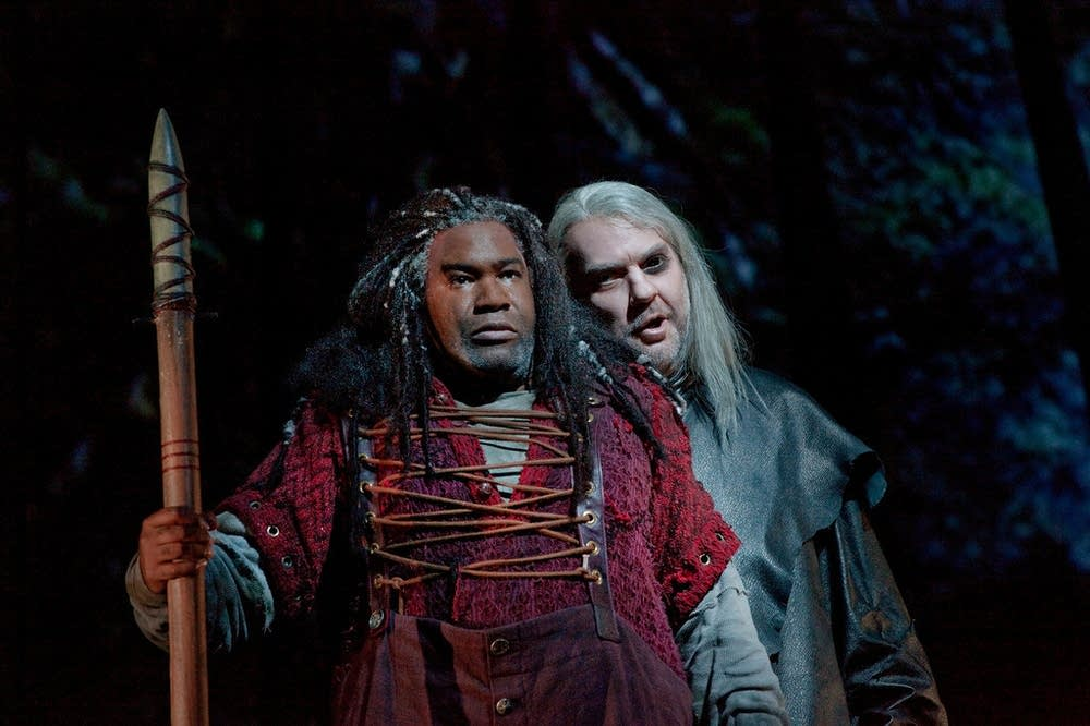 Owens as Alberich and Terfel as the Wanderer