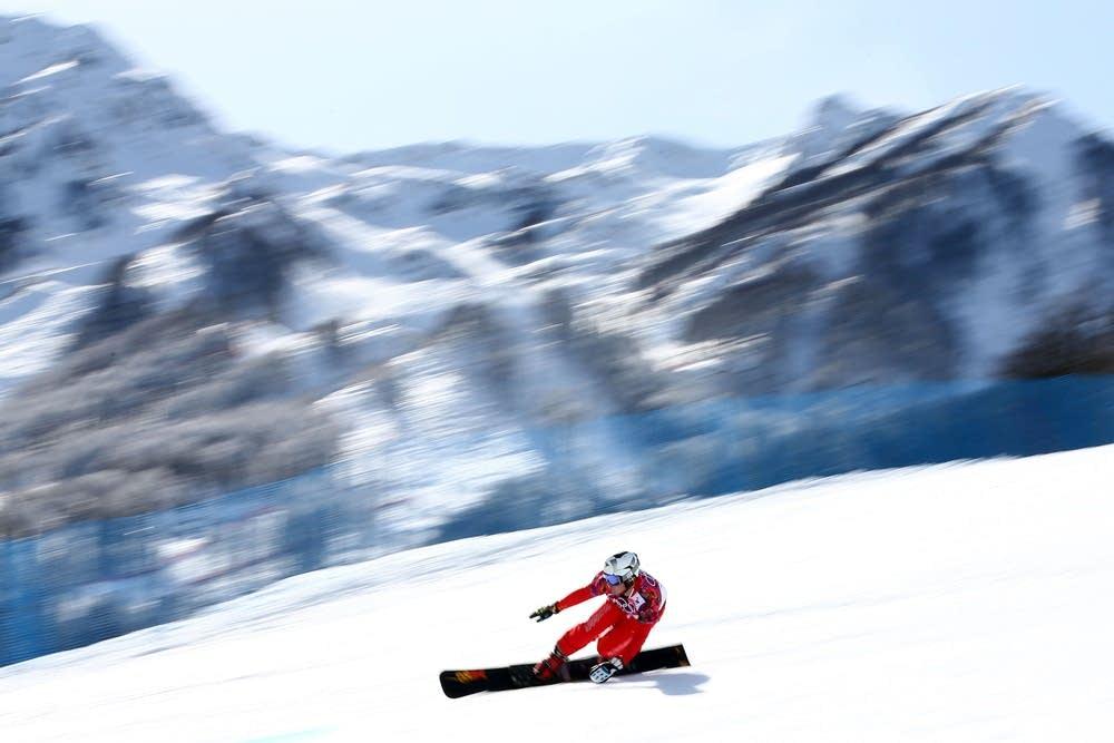 Snowboard giant slalom