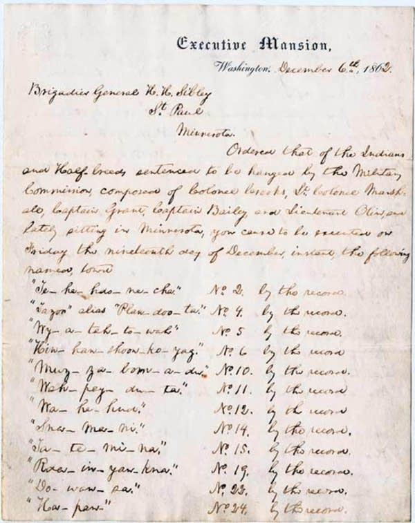 Lincoln's execution order