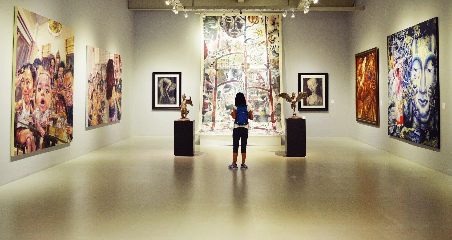 Museum art exhibition