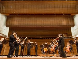 SPCO in rehearsal at the remodeled Ordway