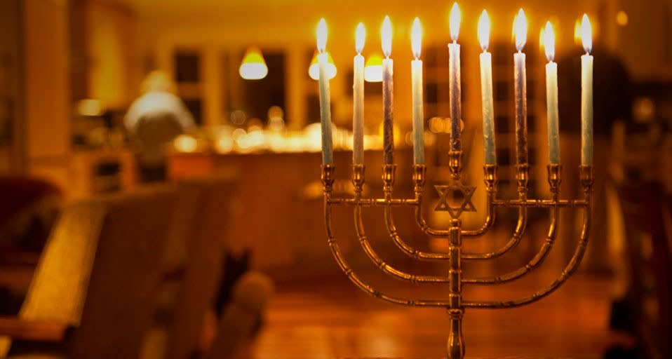 Fully-lit menorah (Michele Westmorland) & Coffee Break: Festival of Lights | The Current azcodes.com