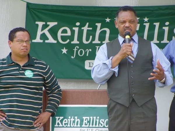 Keith Ellison and Jesse Jackson