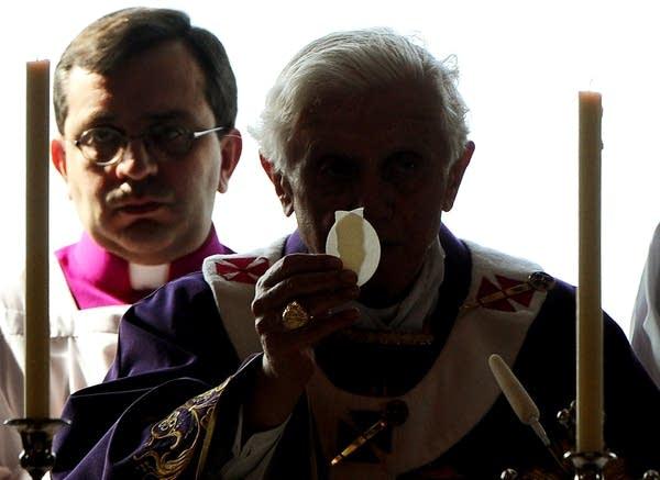 Pope Benedict XVI celebrates mass
