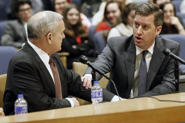 Kurt Daudt, right, and Mark Dayton