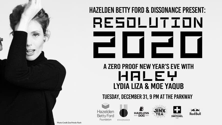 Resolution 2020 Zero Proof New Year's Eve with Haley