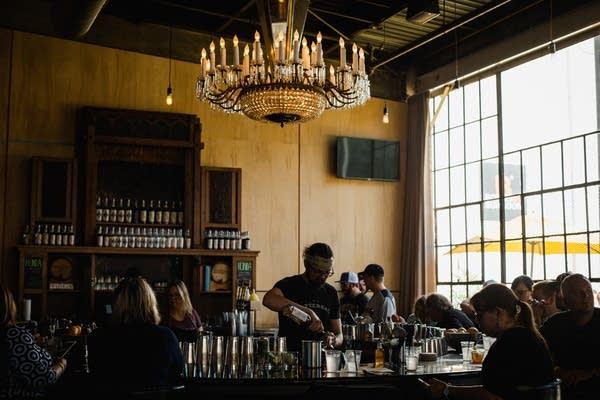 A busy bar