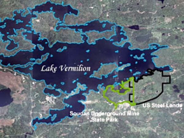 Map of Lake Vermilion