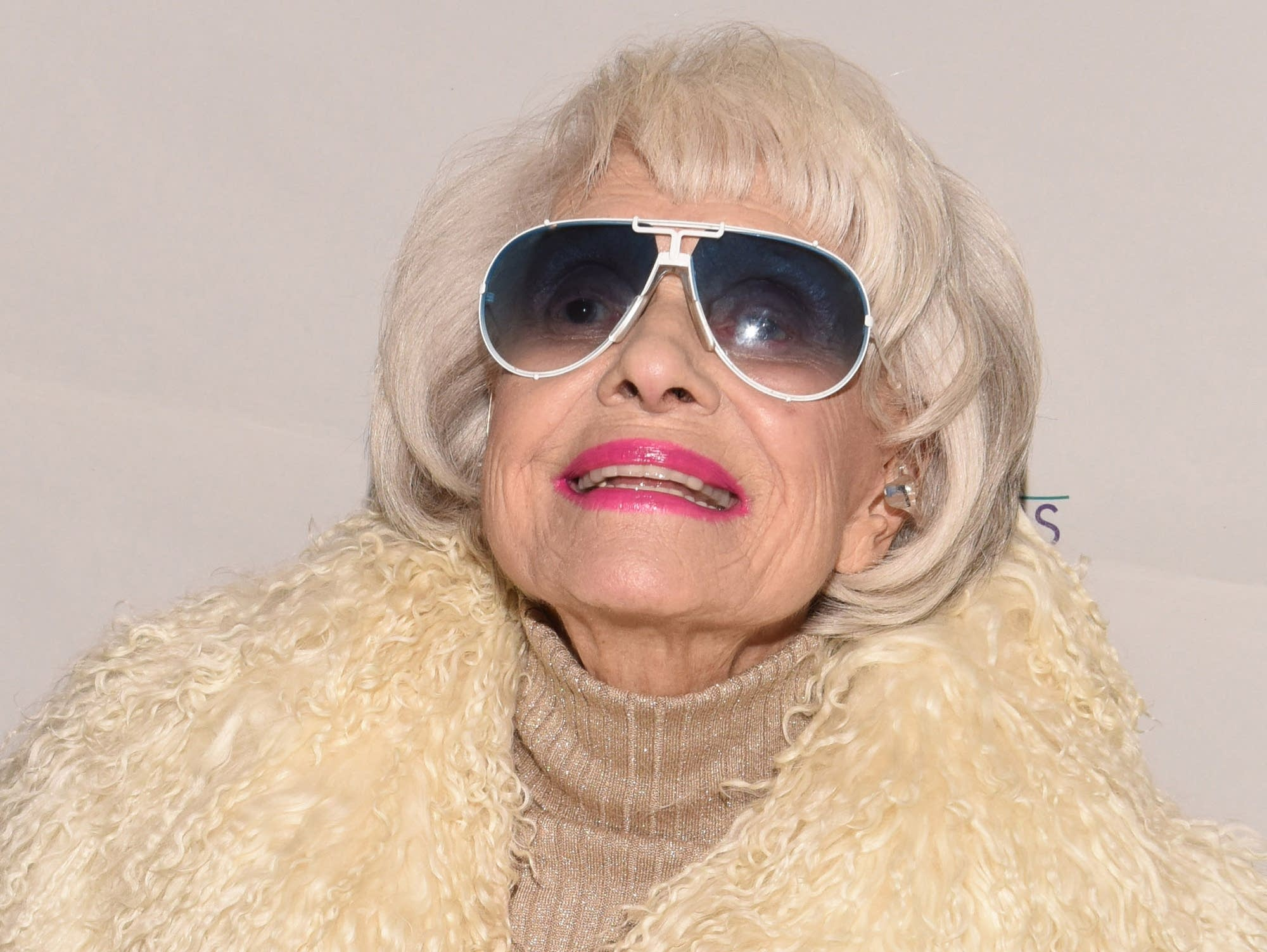 Carol Channing in Palm Springs, 2016.