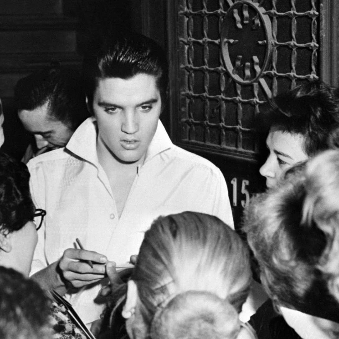 Rock'n roll legend Elvis Presley in 1958