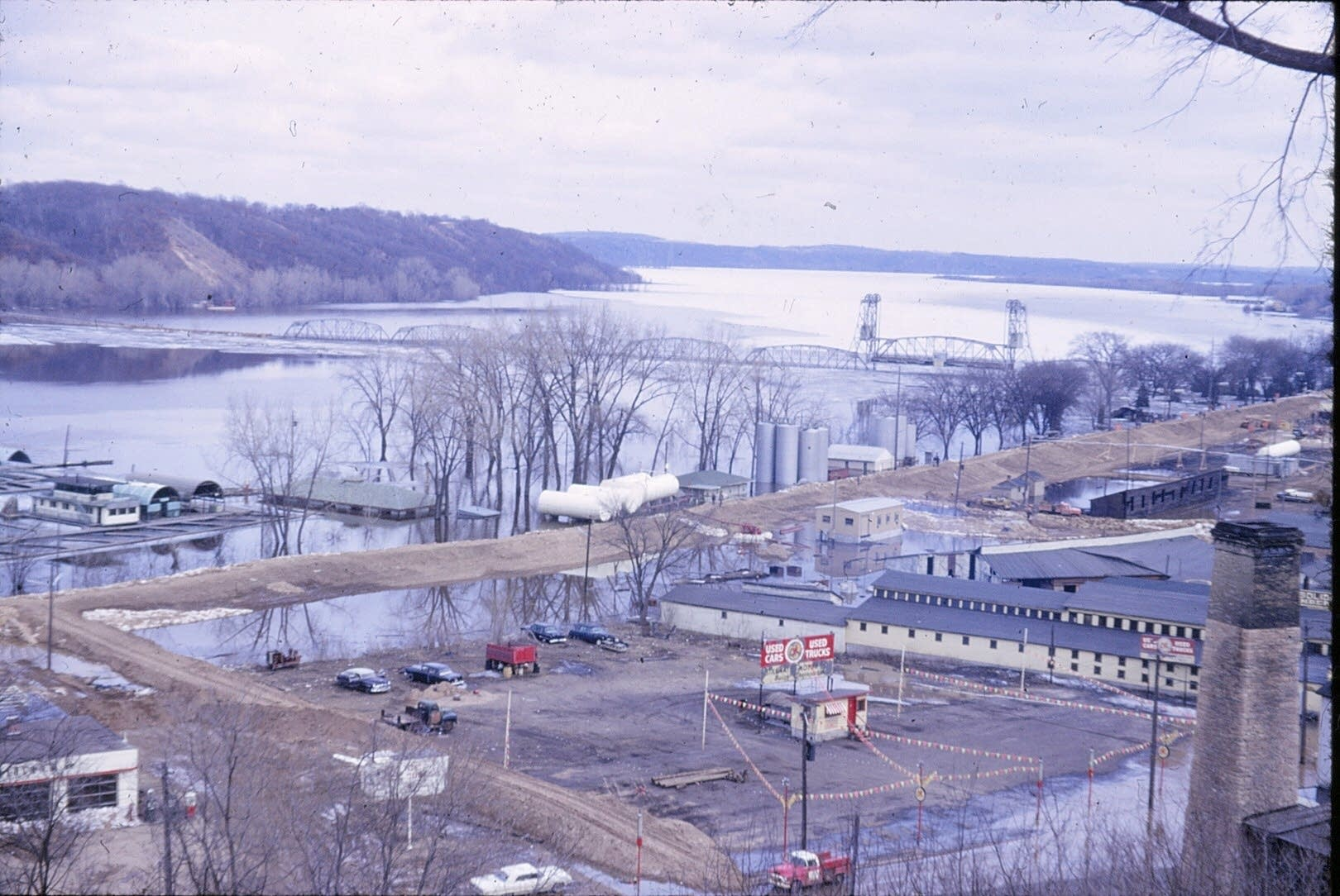 The view of Stillwater from Pioneer Park in 1965.