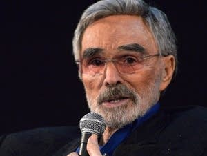 Actor Burt Reynolds speaks during a Q&A session.