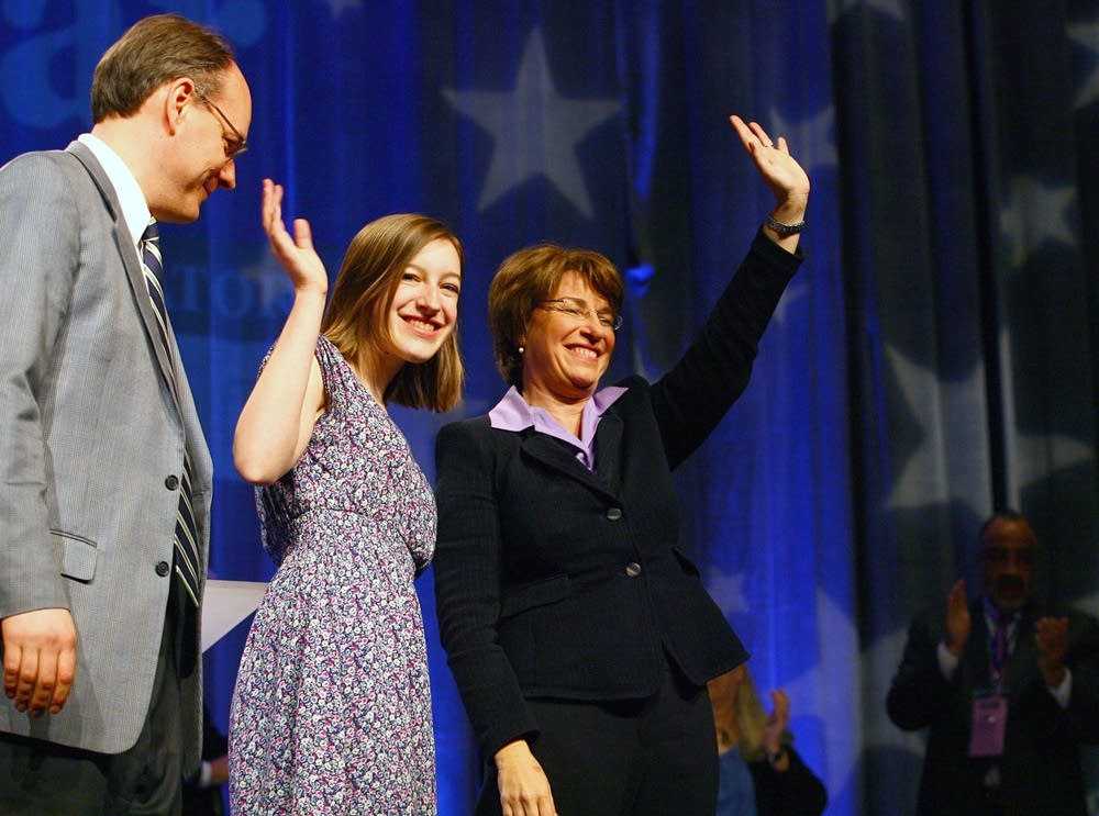 Sen. Amy Klobuchar and family