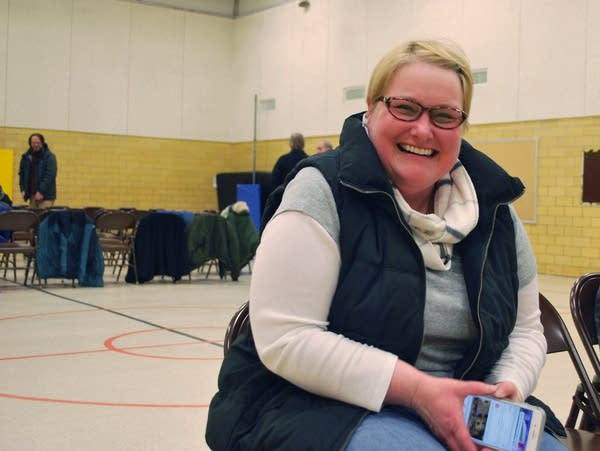 Michelle Klinger, one of seven people who came to a DFL caucus in Bemidji.