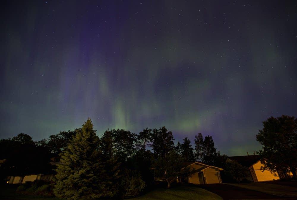 Photos And Video Spectacular Aurora Display Overpowers City Lights Minnesota Public Radio News