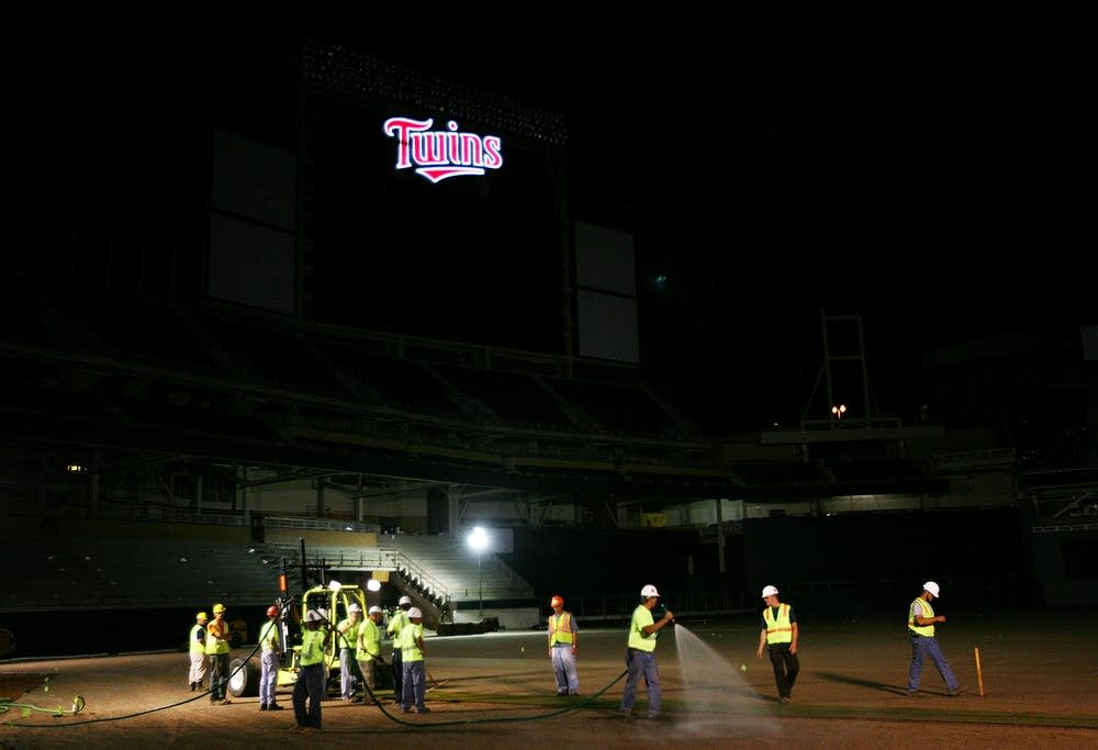 Sod installed at new Twins ballpark