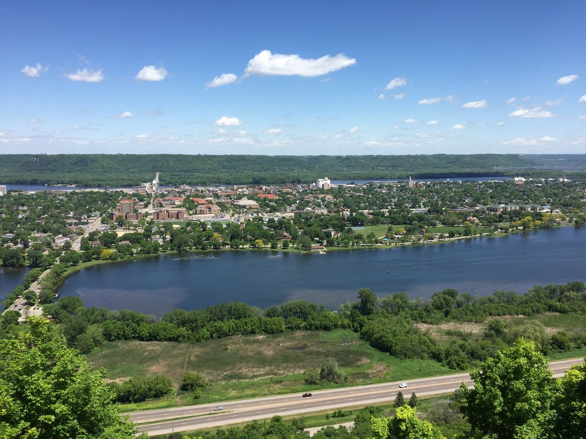 Scenic overview of Winona, Minnesota