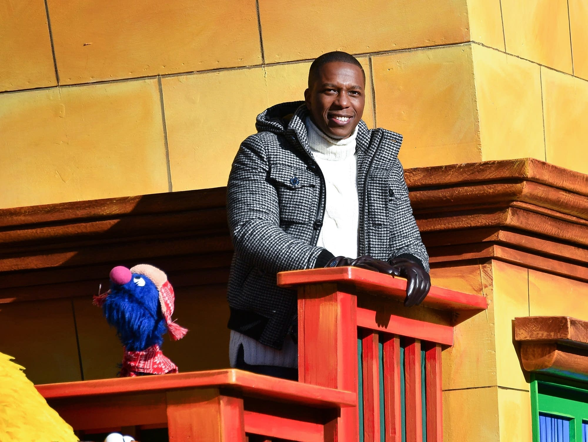 Leslie Odom Jr. in the Macy's Thanksgiving Day Parade.