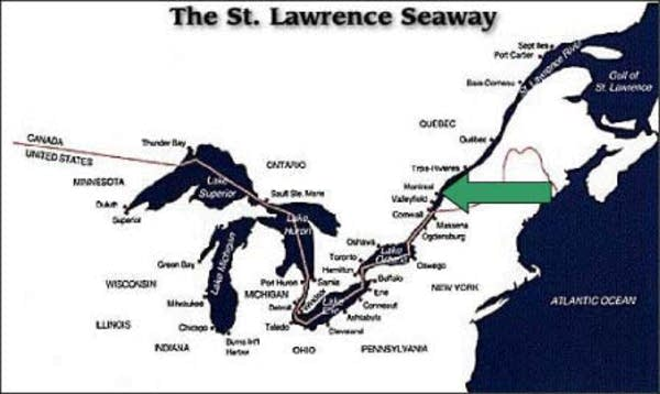 Map of the seaway