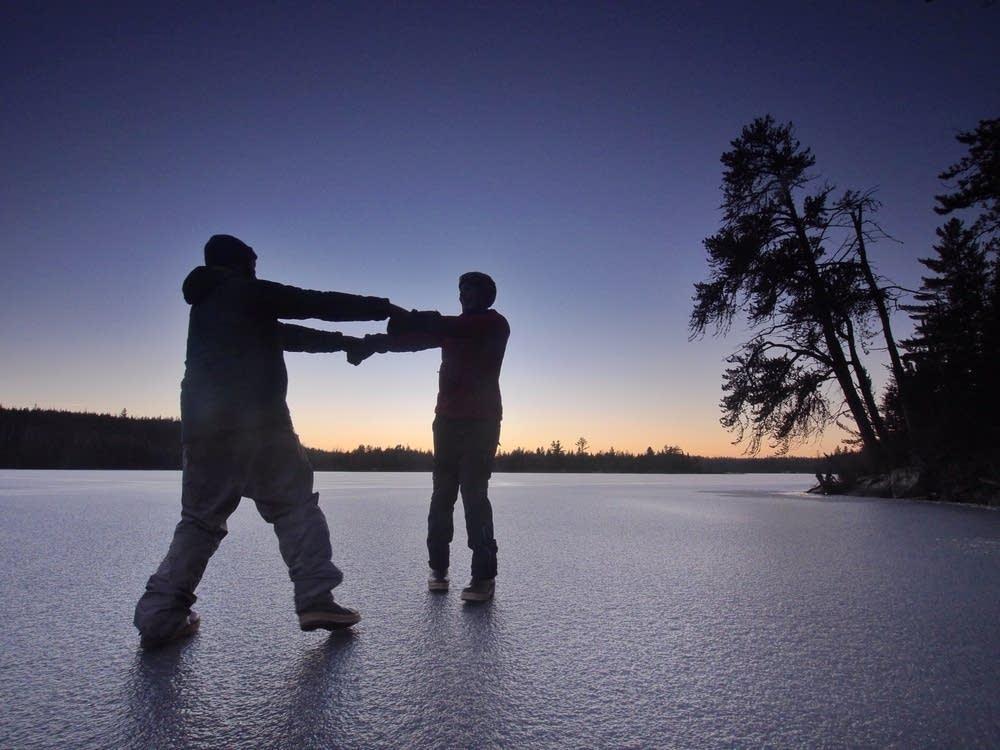 ''It felt good to walk along on firm ice.''