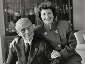 Former Minnesota First Lady Jane Freeman poses with her husband Orville.