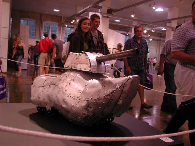 It's a shoe...It's a tank...It's art!