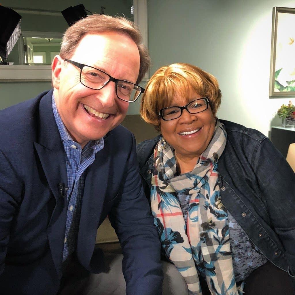 CBS News' Anthony Mason with Mavis Staples