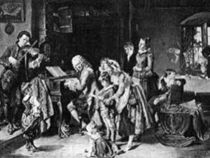 The Bach family performing together