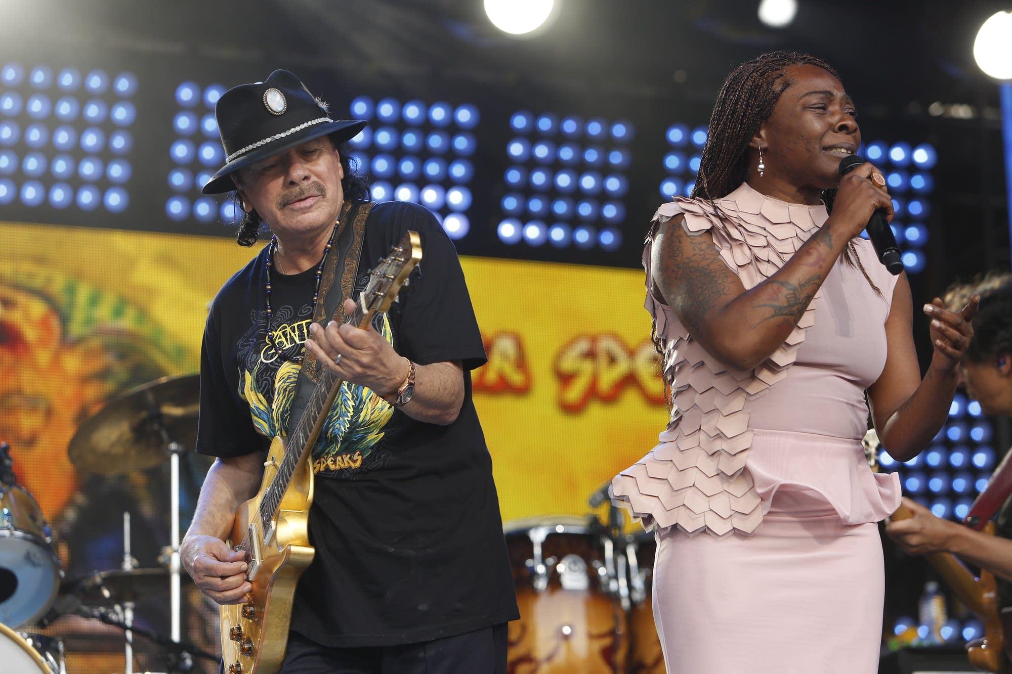 Santana performs on 'Jimmy Kimmel Live!'