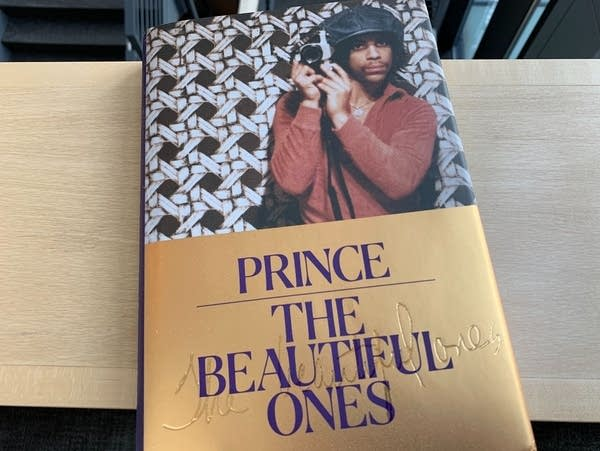 Prince's book 'The Beautiful Ones' (dust jacket).