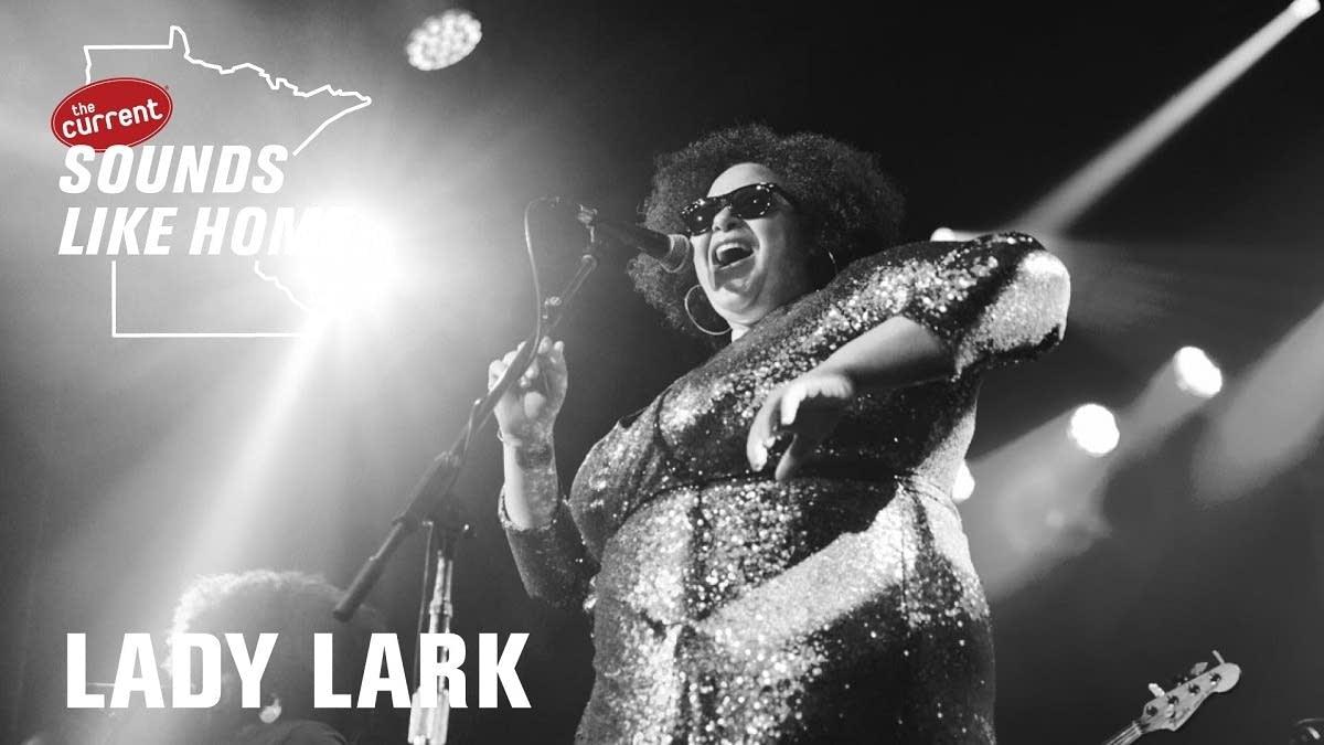Digital flyer for Lady Lark's Sounds Like Home performance.