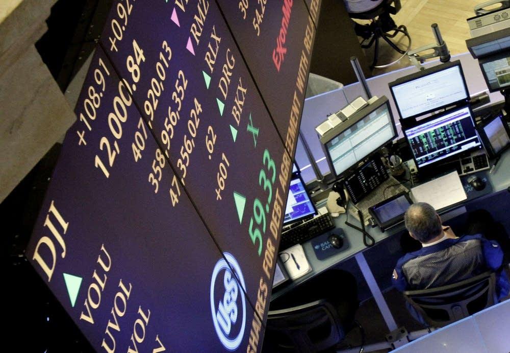 Dow Jones above 12,000