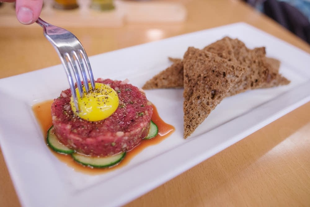 Bison tartare at MSP airport